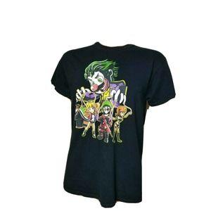 Mario Bros Suicide Squad Mashup Tee Joker Harley Quinn Luigi Nintendo DC Comics